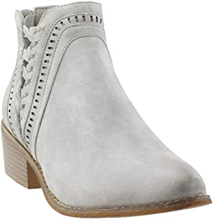 Womens Detailed Casual Booties Shoes,