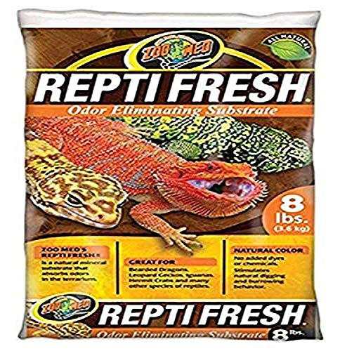 Zoo Med ReptiFresh Odor Eliminating Substrate, Blacks & Grays, 8 lb