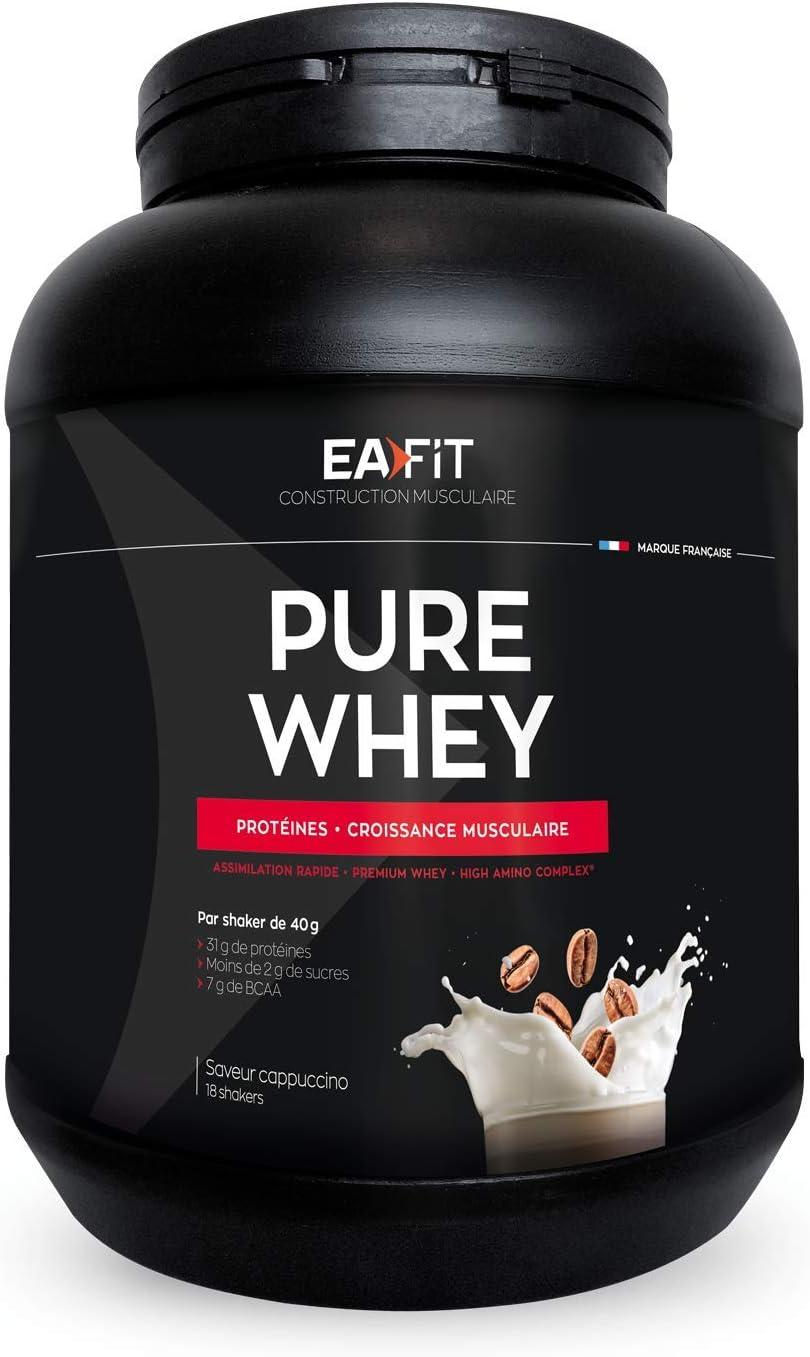 EAFIT Pure Whey - Caramelo 750 g - Crecimiento muscular - proteínas tri-fuentes de whey - Asimilación rápida - Contiene aminoácidos y enzimas ...