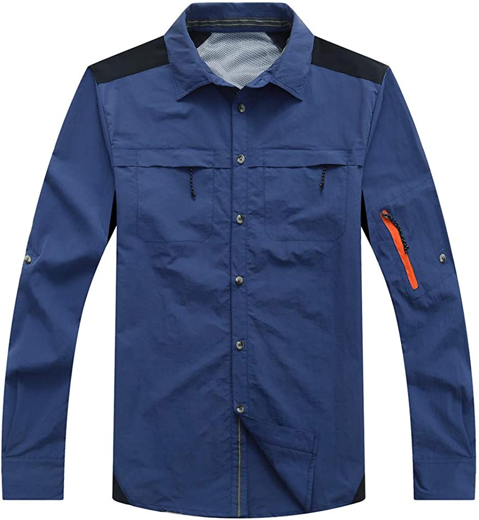 MODOQO Men's Long Sleeve Regular Fit Button Down Shirt Top