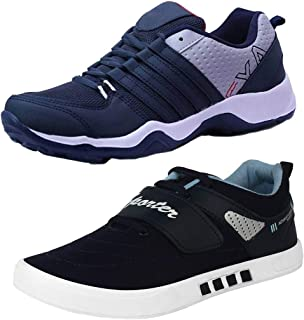 Earton Men Combo Pack of 2 Sports Shoes with Casual Shoes