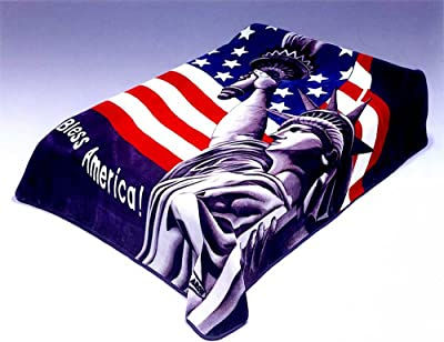 Solaron BM123 Queen Size Blanket God Bless America