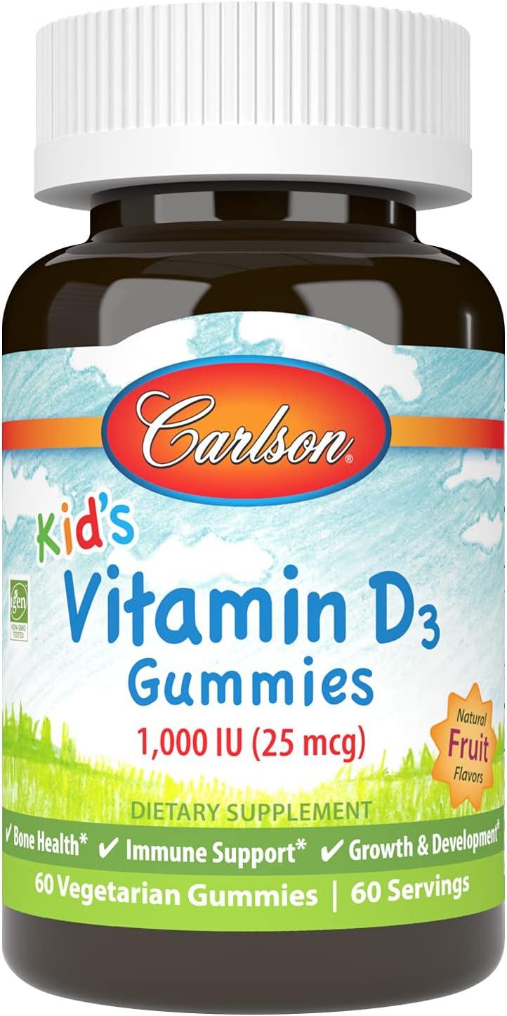Carlson - Kid's Vitamin D3 Gummies mcg 1000 Al sold out. IU Bone Healt 2021 25