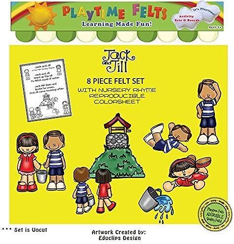 Jack and Jill Nursery Rhyme Felt Figures by Playtime Felts