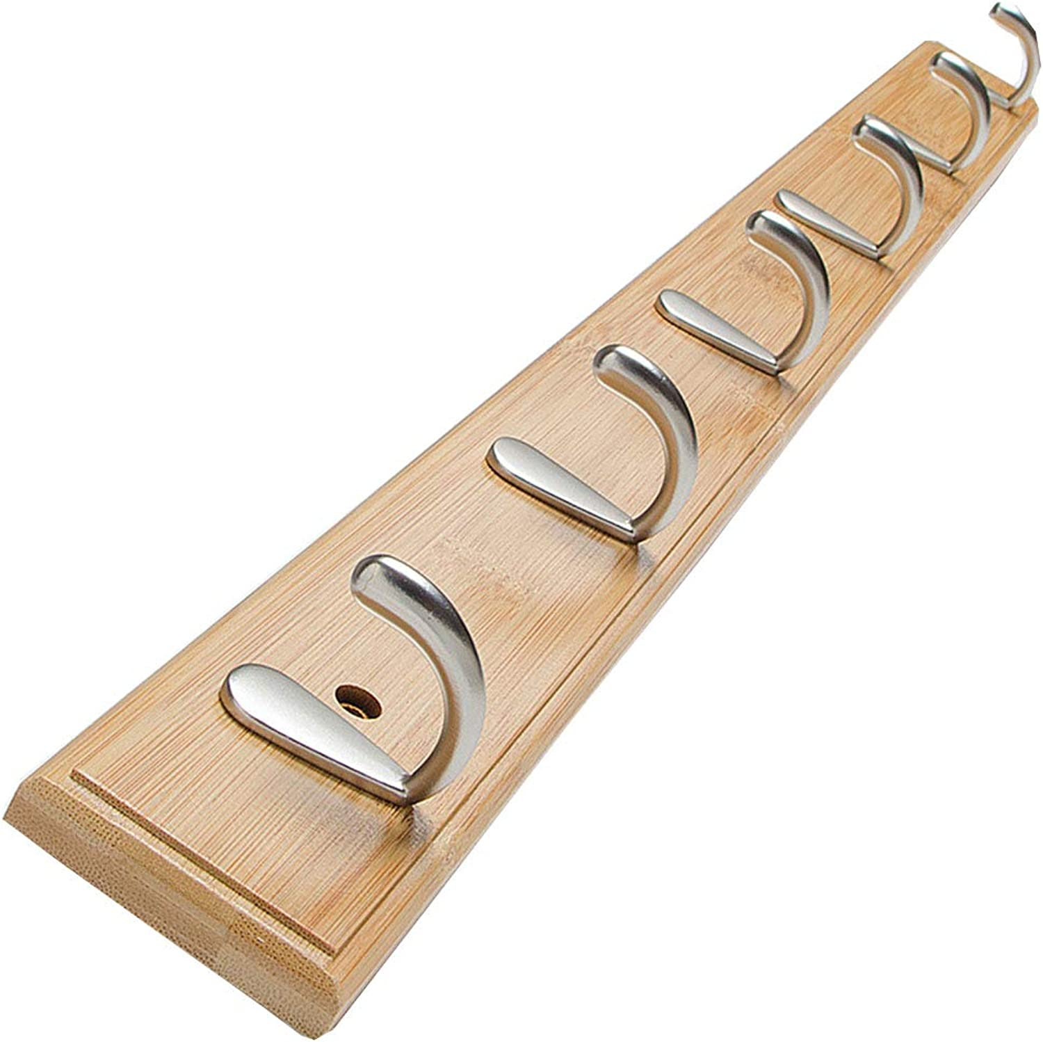 Wall Mount Coat Rack Jumbo Wooden Board Clothes Hat Holder Heavy Duty 6 Hooks Three Colour (color   Natural)