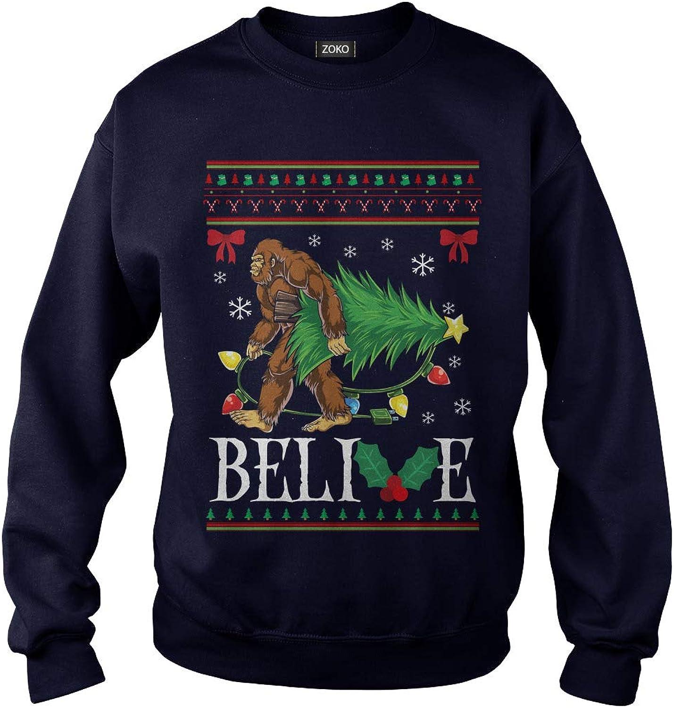 Zoko Apparel Belive Bigfoot Ugly Christmas TShirt