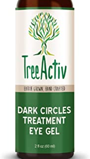 TreeActiv Dark Circles Treatment Eye Gel Hydrating, Anti-Ageing Eye Cream Reduces Under Eye Wrinkles, Eye Bags & Dark Circles Hyaluronic Acid, Dragons Blood, Giant Sea Kelp Extract (60ml)