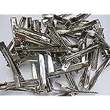 40個 ヘアクリップパーツ 約5cm シルバー ヤットコピン ヘア金具 デコ素材  ハンドメイドパーツ  ヒューイ雑貨