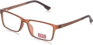 ريترو نظارات طبية بلاستيك ، اطار بني للجنسين - 30 مم