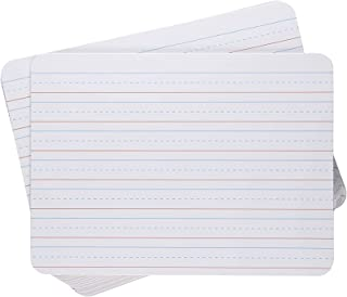 White Dry Erase Lapboards - 12-Pack Double Sided Plain and Lined Lap Board, 9 x 12 Inch Whiteboard, Alphabet Letters Pract...