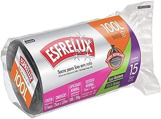 Sacos para Lixo em Rolo Econômico, 100L, Preto, Esfrelux