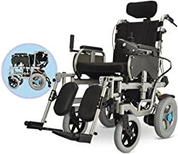 LJMGD Heavy Duty Electric Wheelchair,Powered Wheelchair Foldable 250W2 Double Motor Seat Width 40Cm 360° Joystick Adapt to A Variety of Pavements Disabled Elderly Portable Powerchair
