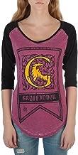 HARRY POTTER Gryffindor House Crest Flag Juniors 3/4 Sleeve Raglan T-Shirts