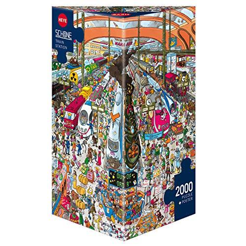 Heye- Puzzle Stazione Ferroviaria, 2000 Pezzi, Multicolore, 29730