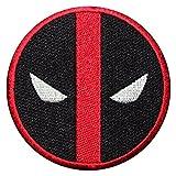 REAL EMPIRE Parche bordado con logotipo de DeadPool de la película de superhéroe para planchar o coser en el vestido de fantasía para camiseta, chaqueta o camiseta (414)