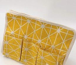 Kaeha BZJH-0001-06Y - Desenli Kumaş Tutucu, Sarı / Beyaz