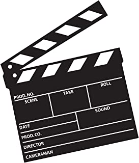Wooden Clapboard Pretending Hollywood Director Movie Making props Accessory, 2PCS