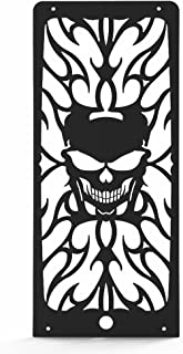 Skull Flame Black Powdercoat Radiator Grill fits: 2010-2013 Honda Shadow 750 VT750 - Ferreus Industries - GRL-104-09black