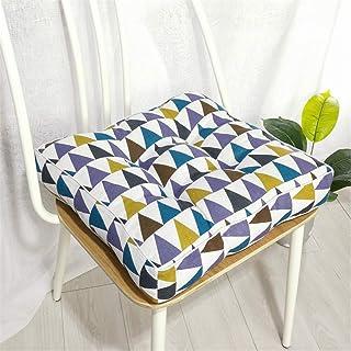 Cojín cuadrado para silla, cojín suave para silla de comedor, asiento grueso, cojín para jardín, cocina, oficina, silla de oficina, cojines para interior y exterior, E-45 x 45 x 10 cm