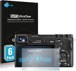 savvies Protector Pantalla Compatible con Sony Alpha 5000/6000 (6 Unidades) Pelicula Ultra Transparente