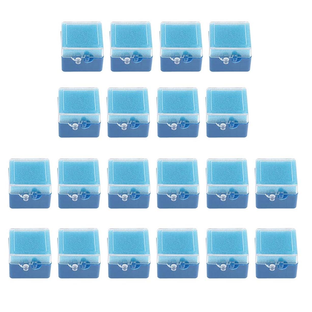 免除ボタン憂慮すべきPerfeclan 約20個 マウスガードケース 義歯収納容器 歯収納ケース リテーナーボックス 2タイプ選べ - 青