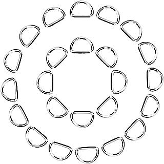 eBoot 100 Pack Metal D Ring 1/ 2 Inch