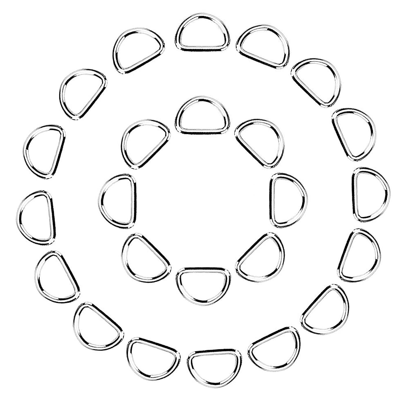 eBoot 100 Pack Metal D Ring, 1/2 Inch