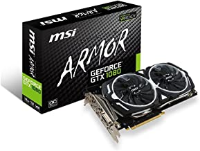 MSI Gaming GeForce GTX 1080 8GB GDDR5X SLI DirectX 12 VR Ready Graphics Card (GTX 1080 ARMOR 8G OC) (Renewed)