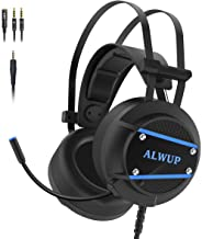 Best ALWUP A9 Xbox One Headset, PS4 Gaming Headset with Mic, PC Game Headphones with Microphone for Gamer Playstation 4 Xbox 1 S & X Nintendo Switch Computer Laptop of Stereo Surround Sound, Deep Ear Pads Review