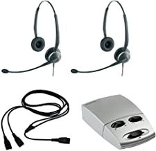 Jabra 2125 Headset Training Bundle | Includes Jabra Headsets, Headser Adapter, Y-Training Splitter Cord | Use for Coaching, Supervising, Training, Monitoring (Advanced Bundle)