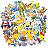 Pokemon Stickers for Water Bottles, | Big 50-Pack | Cute,Waterproof,Aesthetic,Trendy Stickers for Teens,Girls,Perfect for Laptop,Hydro Flask,Phone,Skateboard,Travel| Extra Durable Vinyl (Pokemon)