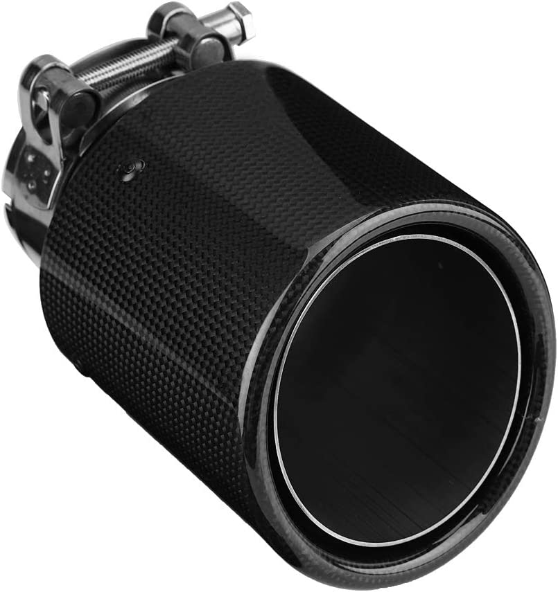 Qiilu Car Exhaust Pipe - Brand new Stainless Style Complete Free Shipping Carbon Fiber Steel