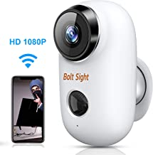 Outdoor Security Camera Wireless Battery Powered - 1080P WiFi Rechargeable Camera - Battery Operated Home Security Camera, Night Vision, PIR Motion Detection, 2-Way Audio, Local & Cloud Storage