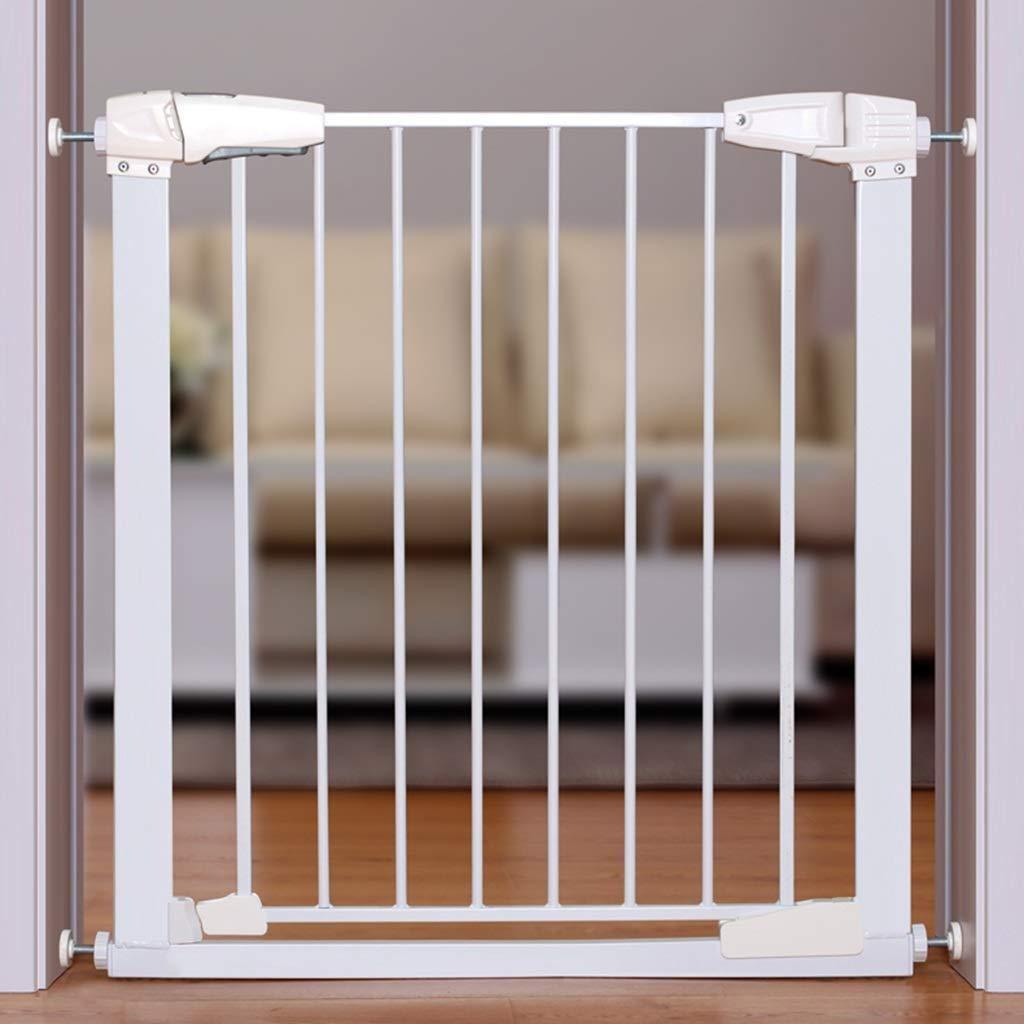 PNFP Puertas de Seguridad Interiores Puerta Estrecha for bebés montada a presión for escaleras Pasillo Puerta Blanca Fácil de Abrir 65-173 cm de Ancho (Size : Width 107-113cm): Amazon.es: Hogar