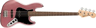 Squier by Fender エレキベース Affinity Series™ Jazz Bass®, Laurel Fingerboard, Black Pickguard, Burgundy Mist