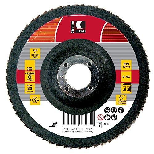 Circumpro 4333097024953taglia 80Flat grain macinazione piastra, nero, 125mm