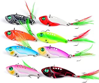 DOITPE Fishing Jigs Spoon Fishing Lures Metal VIB Fish Baits Spinner Spoon Swimbait Jigging Fishing Tackle Lures and Baits in Freshwater and Saltwater
