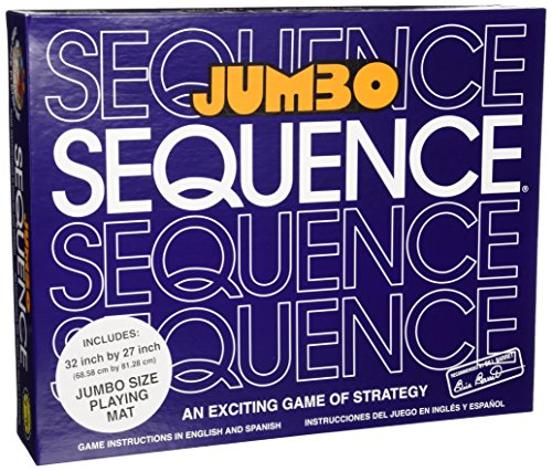 Jax Jumbo Sequence Game - Box Edition with Cushioned Mat, Cards and Chips