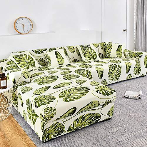 YANJHJY 1 funda para sofá con diseño de tiras, funda de algodón para sofá, fundas elásticas para sofá, para sala de estar, mascotas, esquina, chaise longue en forma de L, cubre sofá, color22,1pieza 2,