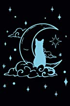 """Spell Book: Wicca Spell Journal Grimoire Journal 6"""" x 9"""" 120 Pages Cat Moon Tarot Card Magick Book Of Shadows"""