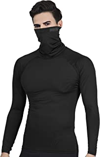 DRSKIN Turtleneck Compression Top Thermal Cool Dry Sports Shirt Baselayer Running Long Sleeve Men