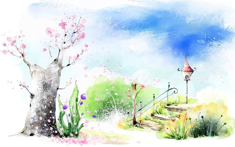 Papel tapiz personalizado para Niños habitación mural árbol de los sueos escena del puente pintura TV Fondo de pantalla, 200x140cm