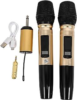magic sing karaoke دينامية ميكروفون المهنية UHF. نظام مكبرات الصوت ميكروفون لاسلكي مع جهاز استقبال 3.5MM 6.35mm محول ل ديج...