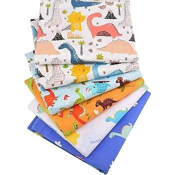 6 piezas 50 cm x 160 cm Animal Cartoon tela de algodón para patchwork Quilting costura almohadas bebé ropa de cama decoración material: Amazon.es: Electrónica