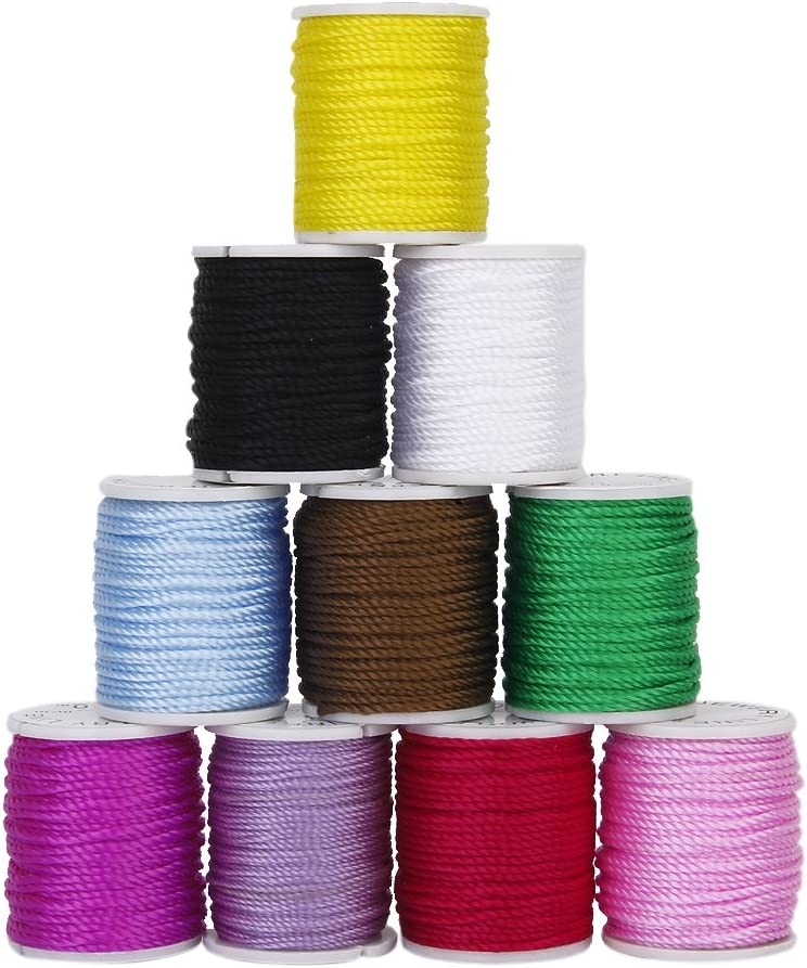 10pcs Rolls Ranking TOP13 Mixed Color Very popular Nylon Cord String Beading Thread Jew DIY
