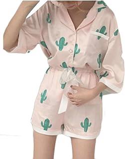 MU2M - playera de manga corta con estampado de cactus para mujer