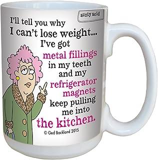Tree-Free Greetings 15-Ounce Ceramic Mug with Full-Sized Handle, Aunty Acid Metal Fillings