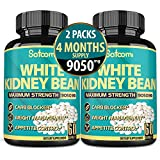 Pure White Kidney Bean Extract Capsules 9050 mg Strength - Vegan Carb Blocker, Fat Absorber - Suppress Appetite - 2 Packs - 4 Months Supply*