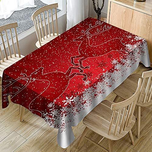 Impermeabile Tovaglia Natalizia con Stampa 3D per Babbo Natale,Rettangolo Rotondo Tavolo Da Cucina Tovaglie Per La Casa Rtovaglia Natalizia Natale Decorazioni Tavola (A,150 * 300cm)