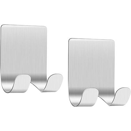2PCS Razor Plug Holder Wall Hooks Self Adhesive Bathroom Home Double Hook Rack